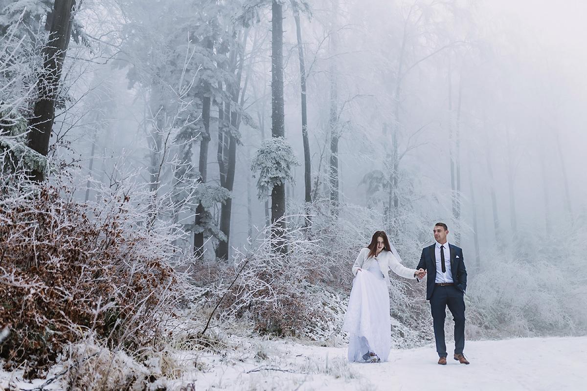 plener ślubny w Beskidzie Niskim